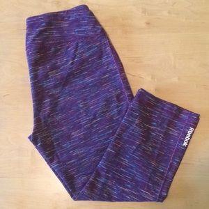 Reebok Purple Activewear Capris Size Medium